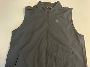 Under Armour LOOSE Men's Coldgear Full Zip Vest Black Size XXL EUC