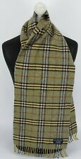 BURBERRY SCARF 100% LAMBSWOOL FOR MEN AND WOMEN MADE IN ENGLAND GREEN G1
