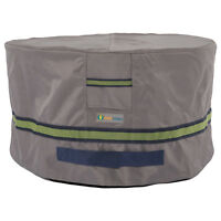 Duck Covers Soteria RainProof 32 in. Round Patio Ottoman/Side Table Cover