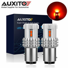 2X AUXITO BAY15D Brightest RED 1157 2057 LED Brake Tail light Bulb 3020-SMD