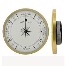 New Quartz Tide Clock Movement Insert, 152mm Diameter Gold Bezel 75mm insert