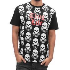Figurbetonte Herren-T-Shirts mit Thug Life in Größe 3XL