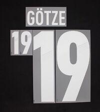 Original DFB Deutschland GÖTZE Flock für Adidas Away Trikot EM 2012-Quali 2014