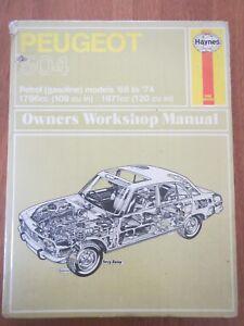 Haynes Owners Workshop Manual Peugeot 504 Petrol Models 1968 to 1974