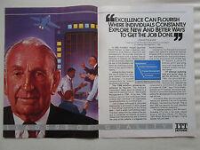 1990 PUB ITT DEFENSE DAVID PACKARD TQM TOTAL QUALITY MANAGEMENT ORIGINAL AD