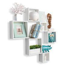 Wall Mount Modular Design Modern Storage Cube Floating Shelves Set of 6 White