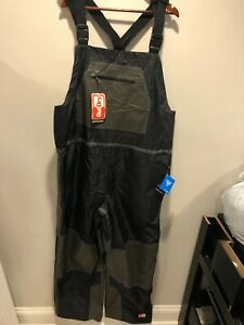 NWT $150.00 Columbia Mens PFG Outdry Hybrid Bib Pants / Waders Gray/Black XL