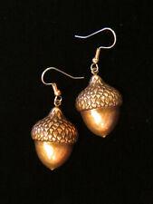 Acorn Earrings Large Copper Fruit of Oak Tree Nut Seed Fall Harvest Autumn