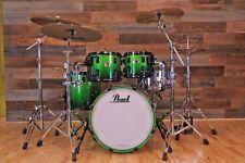 Pearl Reference 4 pezzi Kit di tamburo, Emerald Fade, Raccordi Nero