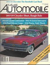 Collectible Automobile Magazine October 1991 Vol 8 - No 3