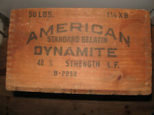 Vintage american cyanamid & chemical  Wood Box Wooden Crate