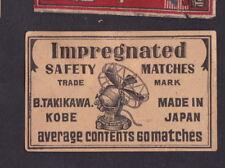 Ancienne  étiquette allumettes Japon  BN42408 Ventilateur average 60
