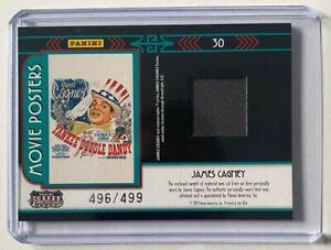 James Cagney Memorabilia Swatch - 2011 Panini Americana (#'d 496 / 499)