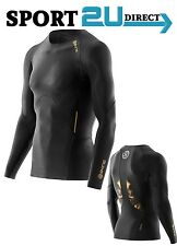 [bargain] Skins Compression A400 Mens Long Sleeve Top ( Black / Gold ) | New!