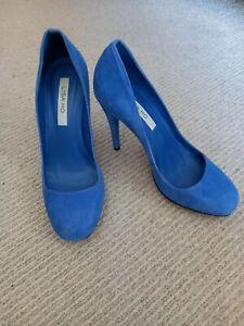 Lisa Ho Blue Suede Heels Size 40