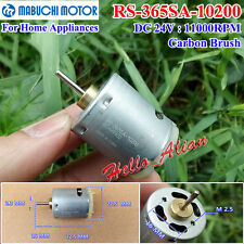 DC 12V-24V 18V 11000RPM For Mabuchi RS-365SA-10200 High Speed Carbon Brush Motor