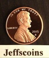 2015 S Lincoln Shield Cent Proof Deep Cameo 1¢ New Penny Union via US Mint Set