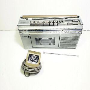 Vintage JVC RC-S1JW Mini AM/FM/SW Cassette Boombox Tested Broken Antenna Read