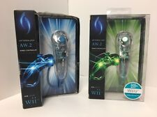 Nintendo Wii BLUE And Green AfterGlow AW.2 LED Nunchuk Controller PDP PL-7603