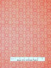 Butterly Fabric - Salmon Orange-Pink Butterfly Northcott #6176 Butterflies YARD
