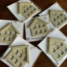 Job Lot 6 x Birchcraft wooden DOVECOTE bird house Christmas TREE DECORATIONS
