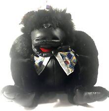 King Plush Gorilla The Original King Kong Black  Stuffed Animal ABC Hat Vest