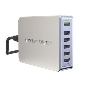 NITECORE UA66Q 6-Port 68W Quick Charge QC 3.0 2.0 USB Power Adapter