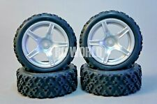 RC Car 1/10  RALLY WRC WHEELS TIRES Package 5 STAR 3MM OFFSET 4PCS -Assembled-