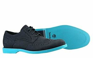 Timberlands Hommes Earthkeepers suede cyan blue gray Wing Tip buck mens 10 shoes