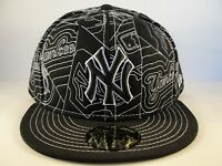 MLB New York Yankees New Era 59FIFTY Fitted Hat Cap Black White