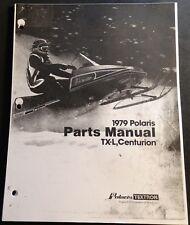 1979  POLARIS SNOWMOBILE TX-L & CENTURION PARTS MANUAL COPY 59 PAGES