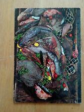 CARD;FISH SEA CATCH;SKATE;COD;GLASS FLOATS;ca1970