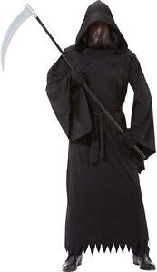 Amscan Phantom of Darkness Grim Reaper Robe Adult Mens Halloween Costume 841311
