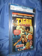 MARVEL CHILLERS #3 CGC 9.4 ORIGIN TIGRA 1976 ~Bernie Wrightson Art Cover
