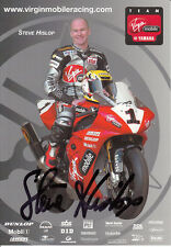 Steve Hislop Hand Signed Virgin Yamaha Promo Card Very Card.