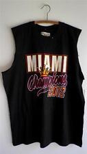US Apparel NBA Black Sleeveless Tank Top Shirt Miami Heat Champions 2012 XL
