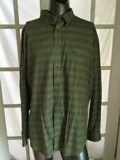 Vintage Tommy Hilfiger Green Plaid Lion Crest Emb Button Front Long Sleeve XL