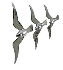 Metal Large Wall Flying Birds Set of 3 Pcs Wall Hanging fx.