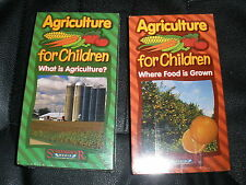 lot of 2 NEW Agriculture for Children VHS What is Agriculture, Where Food  Grown