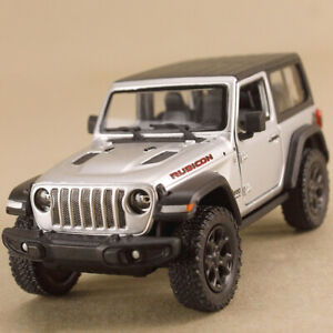 2018 Jeep Wrangler Rubicon Silver 1:34 12.5cm Die-Cast Metal Hard Top Pull Back