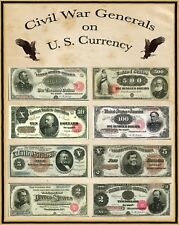 """Civil War Generals on U S Currency Poster 16"""" X 20"""""""