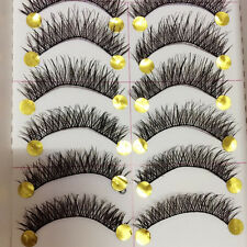 10 Pairs Long Thick Cross Makeup Beauty False Eyelashes Eye Lashes Extension New