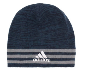 adidas Men's Eclipse Striped Reversible Beanie One Size