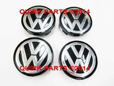 VW Volkswagen Wheel Center Caps Set GENUINE OEM 7D0-601-165-BXF 7D0601165BXF