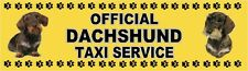 DACHSHUND OFFICIAL TAXI SERVICE (Wirehaired) Dog Car Sticker  By Starprint