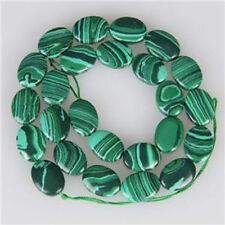 10x15mm Green Malachite Oval Gemstone Loose Beads 15'' ##QF052
