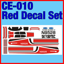 SKYARTEC 5CH CESSNA 182 RC Airplane Parts Red Decal Set Sticker CE-010 010 Plane