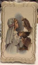 Holy Communion Blank Favor Card, Praying Girl 50/pk, Italy