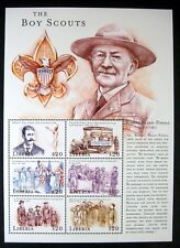 2000 MNH LIBERIA BOY SCOUTS STAMPS SHEET OF 6 ROBERT BADEN POWELL BOYS CLUB