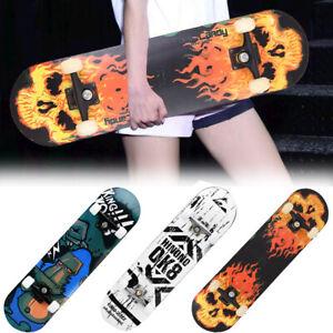 """Fire Skull Orangutan 31.5""""x7.5"""" Full Size Complete Childrens Skateboard"""